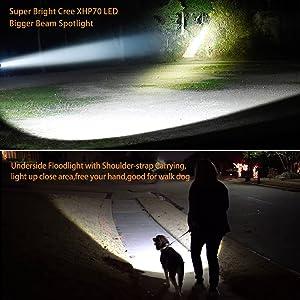 super bright high powered led spotlight flashlight searchlight