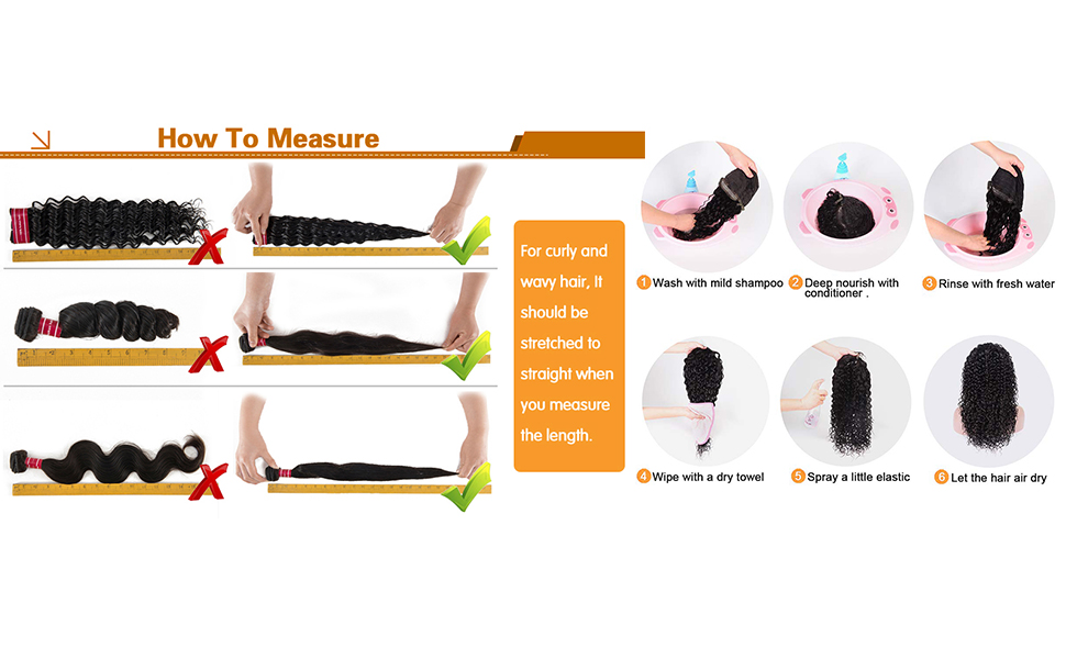 How to properly measure hair length and wash hair