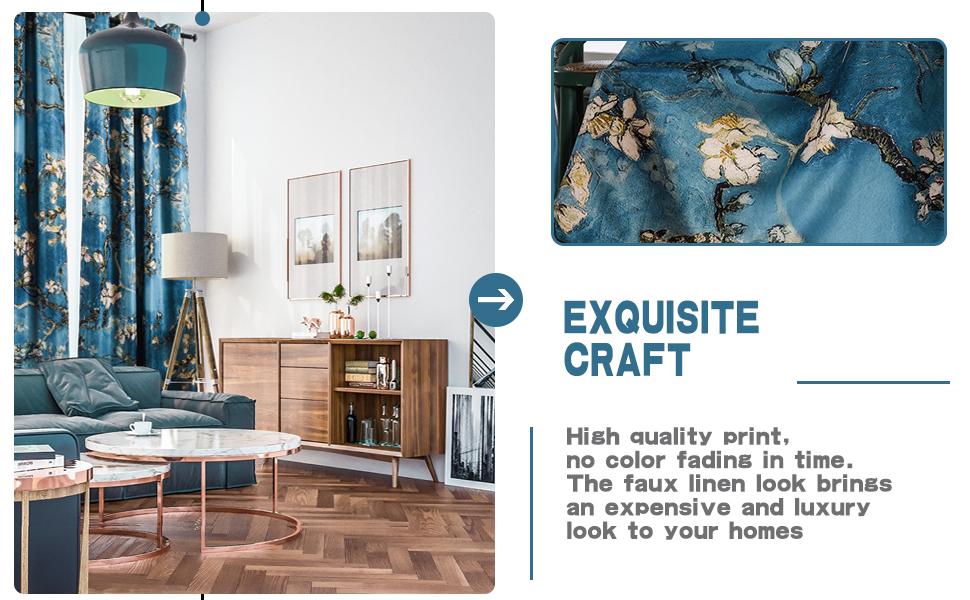 Flower pattern design printing drapes