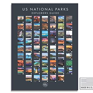 Amazon Com Usa National Park Poster Interactive Travel Map With All 62 Us National Parks Made In The Usa Mark Your Travels Through Our Beautiful National Parks Great National Park
