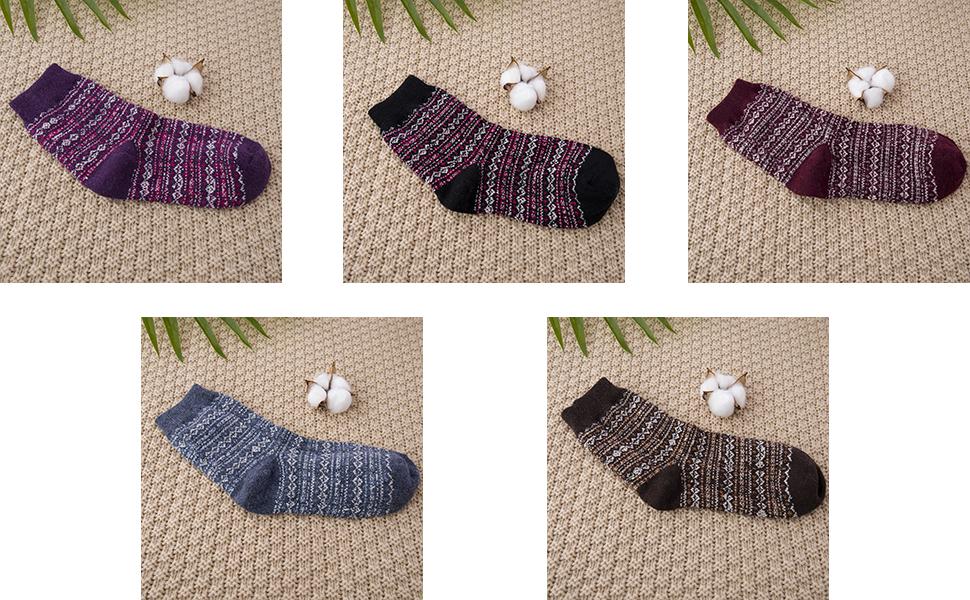 Wool Woman Socks Winter Socks 5-pack