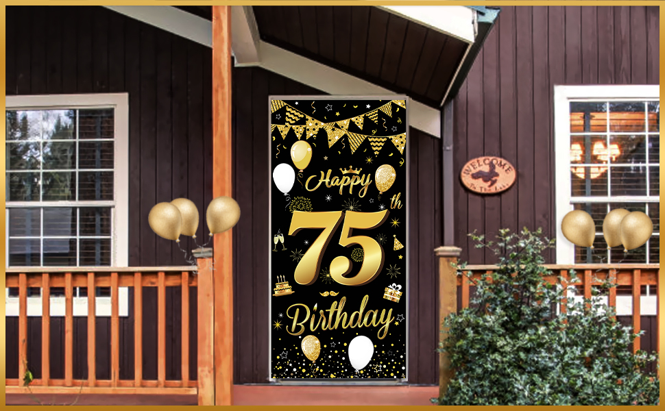 75 birthday banner