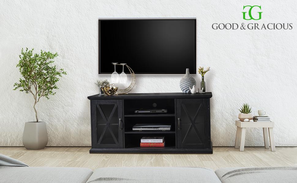 bedroom tv stand, living room tv stand, mid century tv stand, barn door tv stand