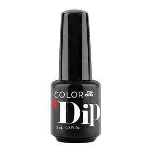red carpet manicure, color dip, top coat