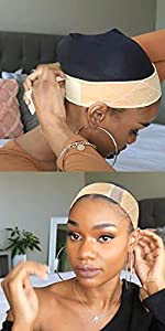 Lace Wig Grip Velvet Comfort Adjustable Elastic Wig Band for Lace Wigs