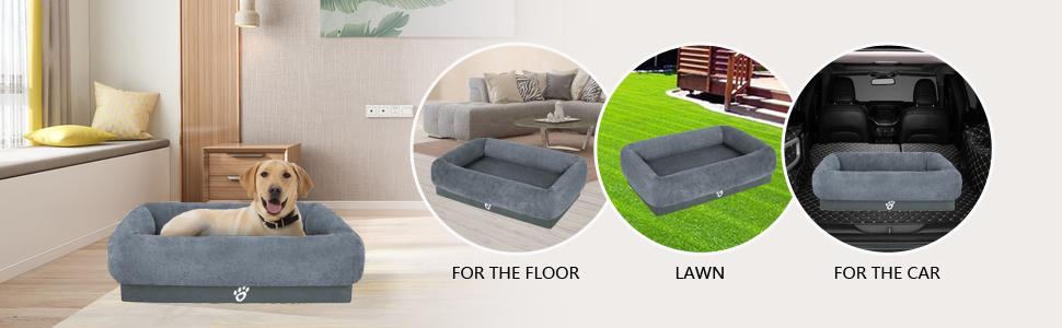 Mirkoo jumbo large medium small Orthopedic Joint Relief Fur dog bed sofa