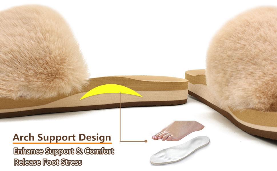 COFACE slippers for women fur sliders house slippers ladies plush slippers