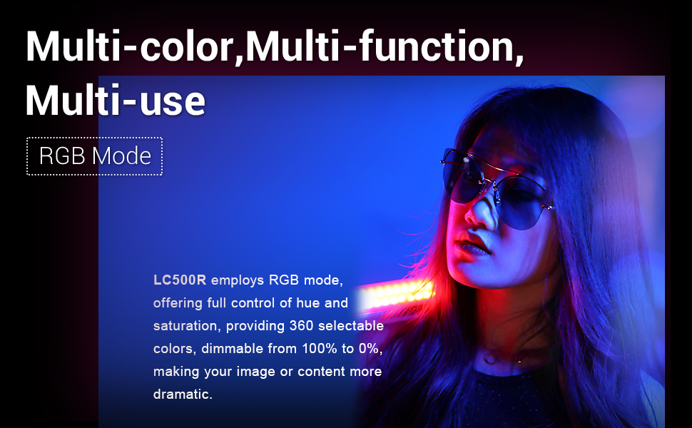 Godox Lc500r Videolampe Rgb Led Leuchtstab Light Kamera