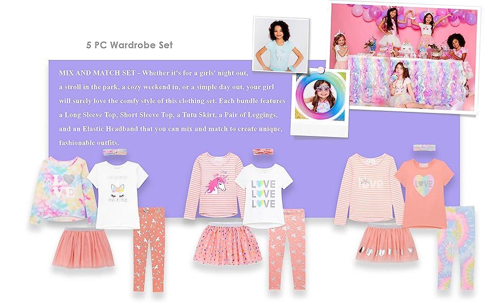Girls 5pcs wardrobe set