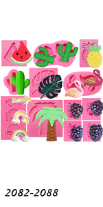 Aloha Theme Molds Set 12-count