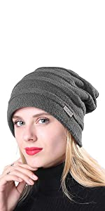 Oversized Cable Knit Slouchy Beanie Skull Cap