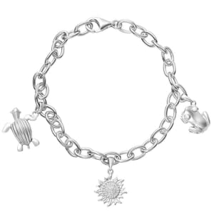 bracelet turtle sun frog puerto rico charm