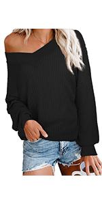 Women Off-shoulder Sweater