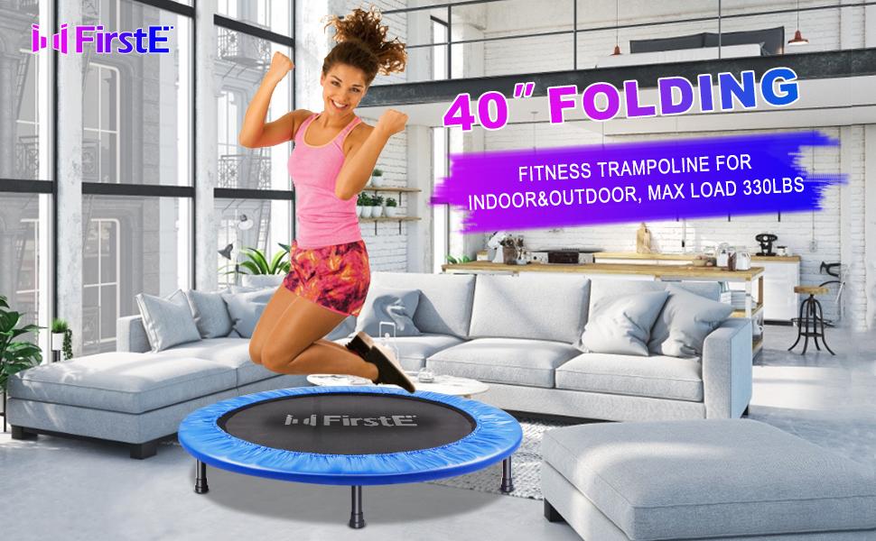 fitness trampoline for indoor outdoor