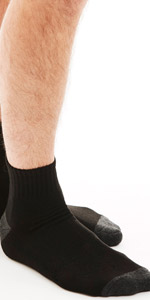 ankle height socks normal quarter mens synthetic bolter gym working out spandex nylon black low cut