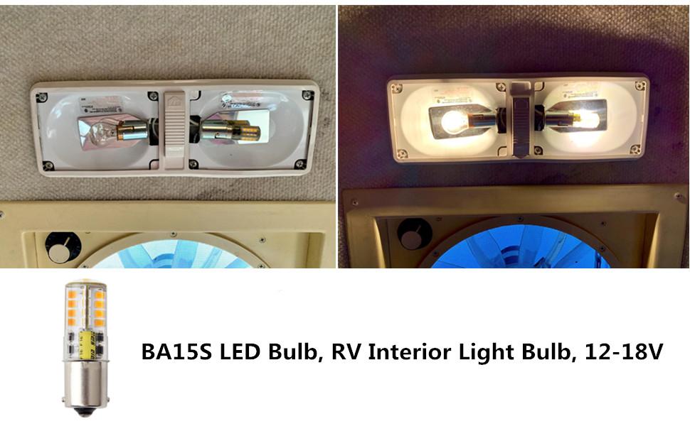 BA-15S 5W AC//DC12V Super Bright Single Contact Base LED Bulb Halogen Bulbs C8A8