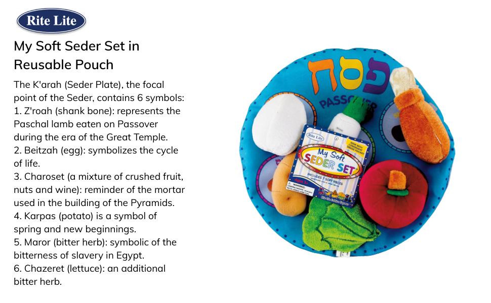 soft seder plush toy set