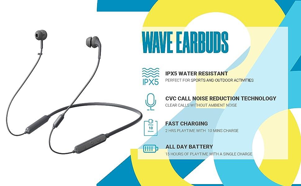 wave neckband AUDIFONOS INALABRICOS BLUETOOTH