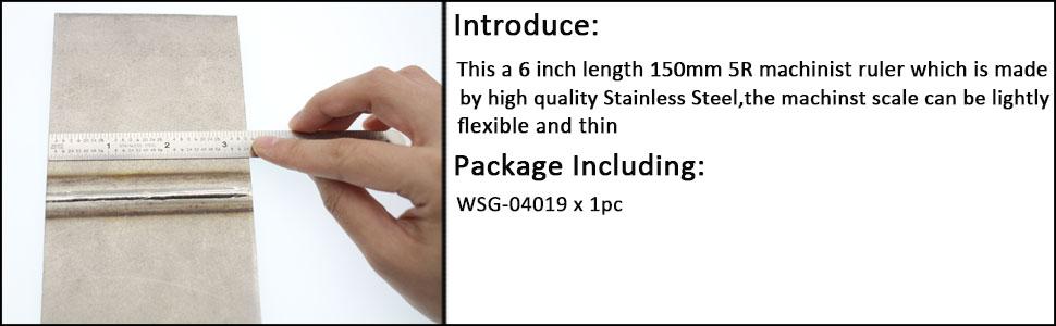 10th inch scale 5r ruler scale 6 machinist ruler scale precision machinist ruler flexible ruler 10th