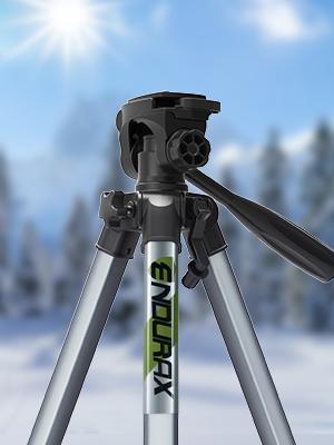 Endurax 167 cm//66 inches Tr/épied Cam/éra Vid/éo pour Canon Nikon L/éger Aluminium Voyage DSLR Stand de Cam/éra avec Universel Clip T/él/éphonique et Sac de transport