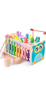 Hammering Pounding Toy Hamster Toy Xylophone Fishing Magnet Game