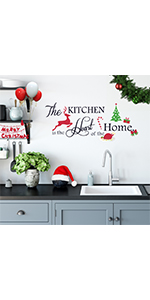 Christmas wall decals stickers