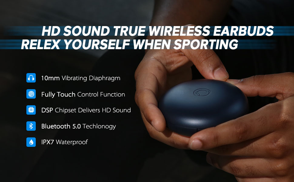 Истински безжични спортни слушалки
