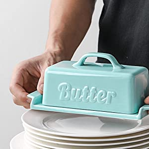 butter dish with handle