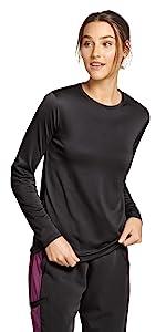 model wearing Jockey 2503 Women's Retro Breathabilitee Underscrub Top