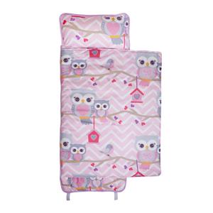 girls nap mat, little girls sleeping bag, owls nap mat