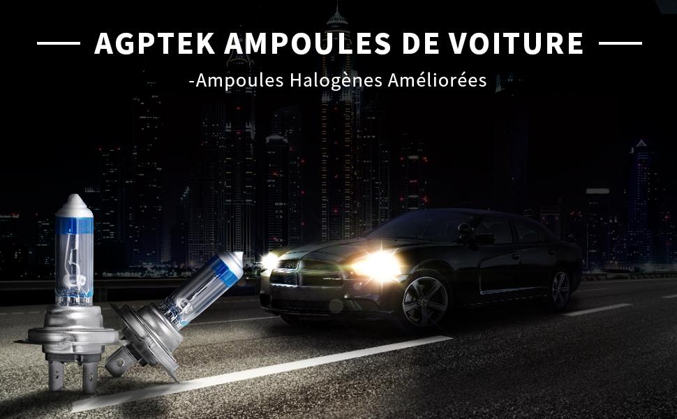 10x h7 Ampoules Lampes Ampoules Voiture px26d 12 V 55 W e4 Filtre UV