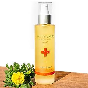 Pursoma natural body scrub organic skincare spa treatments detox bath soak body oils teas