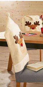 Deer Hat Christmas Chair Covers
