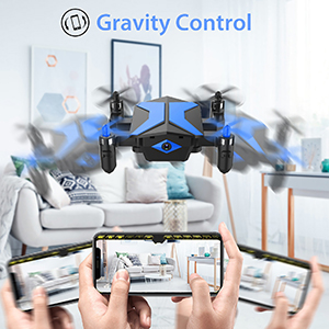 Flashandfocus.com 11b9b22c-5820-4947-a1bd-e3331f5824cd.__CR0,0,300,300_PT0_SX300_V1___ Mini Drone with camera for KidsBeginners , Foldable Pocket RC Quadcopterwith App Gravity Voice Control Trajectory Flight, FPV Video, Altitude Hold, Headless Mode, 360°Flip, Toys Gifts for Boys Girls