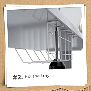 Fix The Tray With Screws