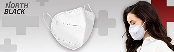 North Black N95 mask 5 layer filter with respiratory valve Easy to breathe and very soft comfortable