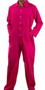 Pink flightsuit unisex flight suit men women jumpsuit