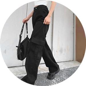 Cargo Wide Leg Jeans