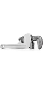 """Straight Handle Plumbers Tool 8/"""" Jaw Capacity VEVOR 60/"""" Cast-Iron Pipe Wrench"""