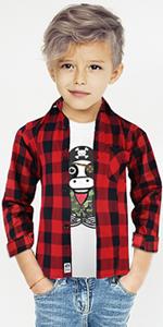 Black n Bianco Boys Flannel Shirt
