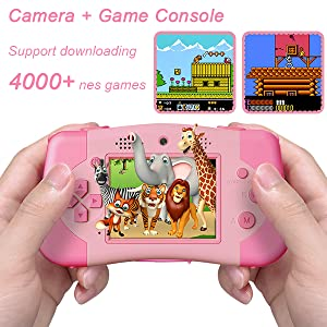 This game camera is also a game console.