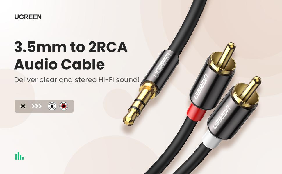 UGREEN FBA/_10749 Audio Splitter Audio Cable 3.5mm 3.5mm Cable de Audio