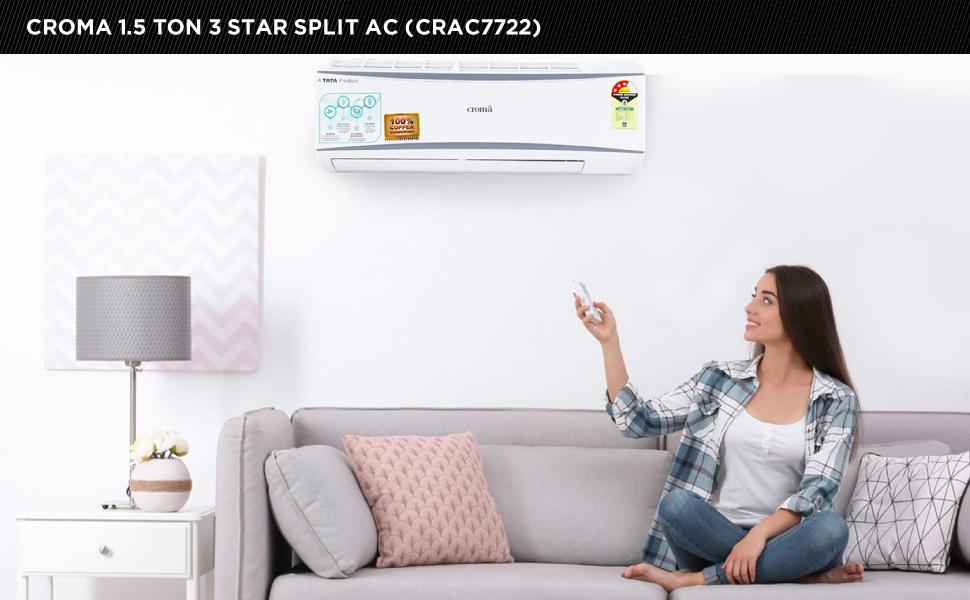 Croma 1.5T 3 Star Split AC (CRAC7722)