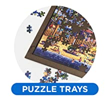 Puzzle tray edge easier assembly move store storage organize build movable sturdy dimensions