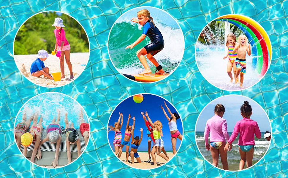 Girls swimming class