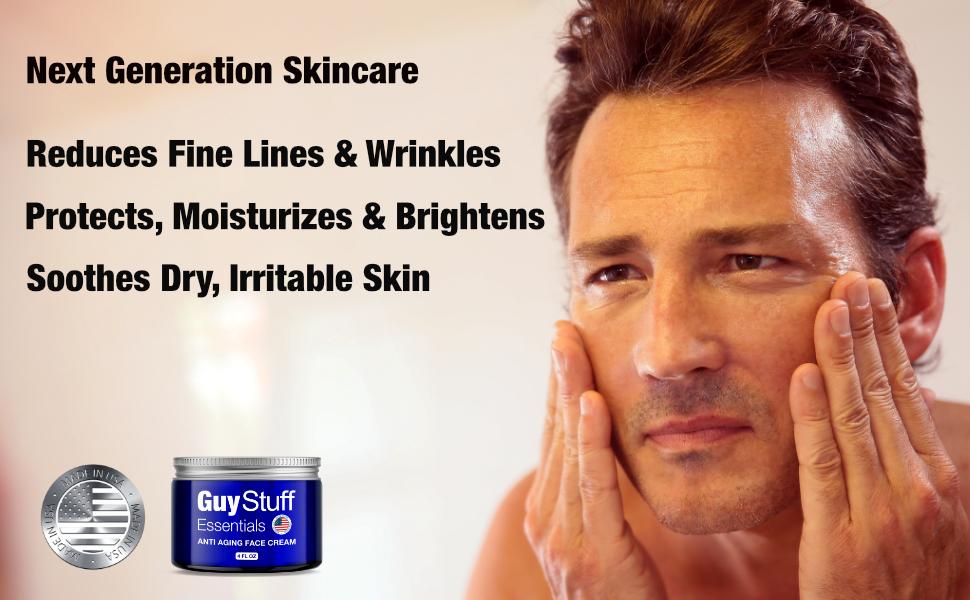 Guy Stuff Essentials Man touching face