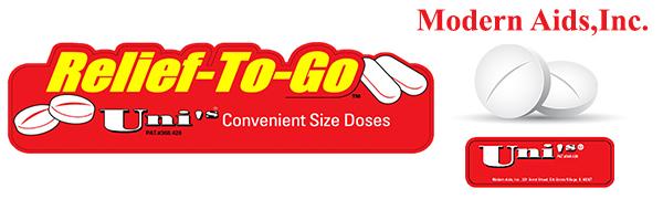 Asprin pain relief headache flu cold pills ready to go modern aids convenient store online tablets