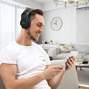 mkay bluetooth headphones wireless over ear ebc-5