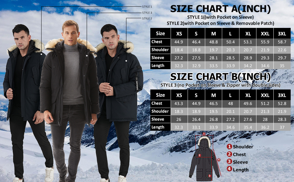 winter warm coats for men and women