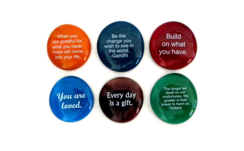 glass stones, encouragement, motivation, inspiration, gift, inexpensive